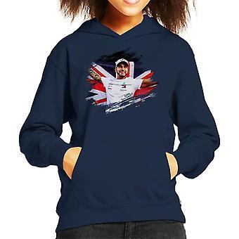 Motorsport Images Lewis Hamilton Autodromo Kid's Hooded Sweatshirt