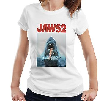 Jaws 2 Women Wakeboarding In Colour Women's T-Shirt