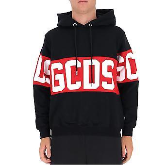 Gcds Cc94m02101302 Heren's Zwart Katoen Sweatshirt