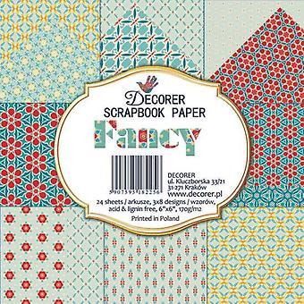 Decorer Fancy 6x6 Inch Paper Pack