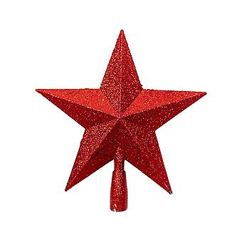 Christmas Tree Decoration Five-pointed Star Red 14x15CM