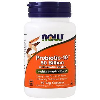 Jetzt Lebensmittel, Probiotikum-10, 50 Milliarden, 50 Veg Kapseln