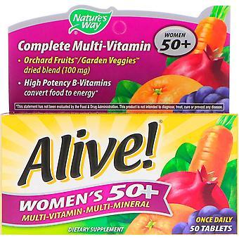 Natur's Way, Levande! Kvinnor's 50+ Komplett Multi-Vitamin, 50 Tabletter