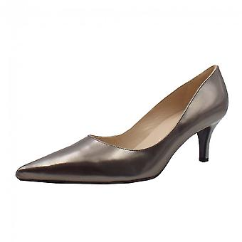 Peter Kaiser Soffi Dressy Pointy Toe Mid Heel Court Shoes In Pewter