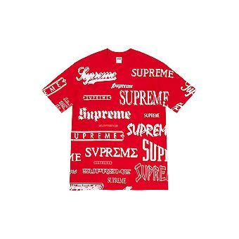Supreme Multi Logo T-Shirt rot - Kleidung