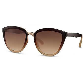 النظارات الشمسية المرأة فراشة كات. 3 بني/ بني فاتح