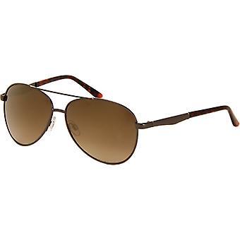نظارات شمسية الطيارين للجنسين مرآة زجاج رمادي (A-Z7230)