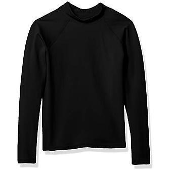 Essentials UPF 50- Little Boys' Long-Sleeve Rashguard, Black, Small