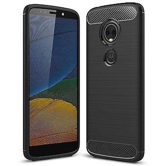 Soft Rubber Shell pour Motorola Moto E5 TPU Solid Color Shockproof Phone Protection Mobile Protection