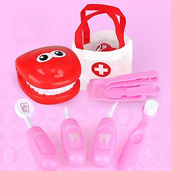 9pcs Dentist Check Teeth Model Set- Medical Supplies Kit Educational Role Play Doctor Toys For Children Kids