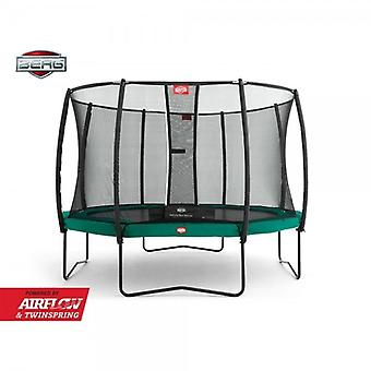 BERG Champion 330 11ft Trampoline+ Safety Net Deluxe Green