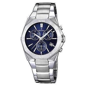 Festina chrono 5atm Watch for Analog Quartz Men with Stainless Steel Bracelet F16757/2