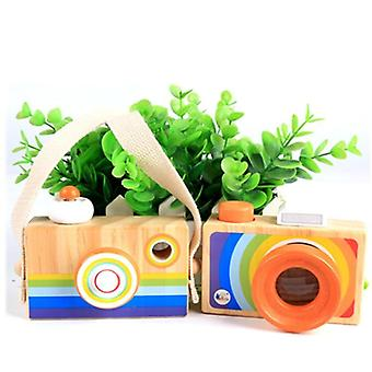 Toy Camera Cute Cartoon Baby Wooden Toy Room Decor - Wooden Camera