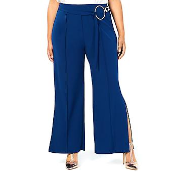 NY Collection | Partial Belted Wide Leg Pants