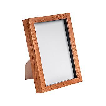 """Nicola Spring Acrilic Box Photo Frame - Legno Scuro - 6 x 8"""" (A5)"""