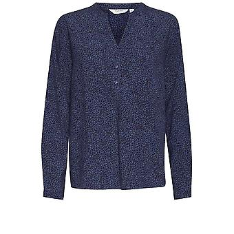b.young Illa Blue Patterned Blouse