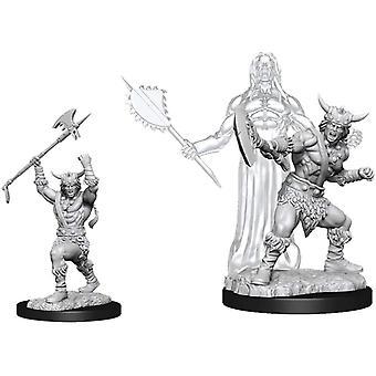 D&D Nolzur's Marvelous Unpnted Miniatures Male Human Barbarian (Pack Of 6)