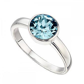 بدايات الجنيه الاسترليني الفضة مارس سواروفسكي الميلاد خاتم R3687