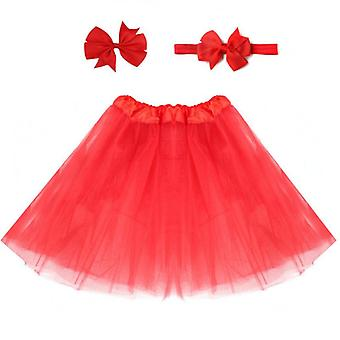 Baby Tulle Tutu Kjol Infant Nyfödda Blöjor Cover Multi-color Kort