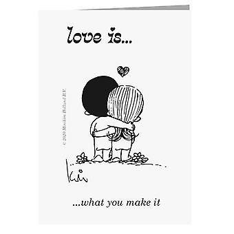 Liebe ist, was Sie machen es Grußkarte