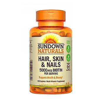 Sundown Naturals Hair, Skin & Nails, 5000 mcg, 12 X 120 Tabs