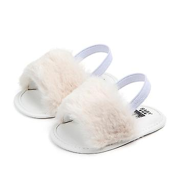 Summer Soft Hair Style Classic Baby Slipper, Sandals, Breathable Fur Shoes,