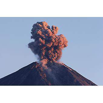 August 22 2005 - Semeru eruption Java Island Indonesia Poster Print