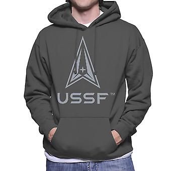 U.S. Space Force Darker Logo USSF Darker Text Men's Hooded Sweatshirt