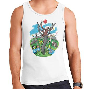 Curious George In A Tree At The Zoo Men's Vest