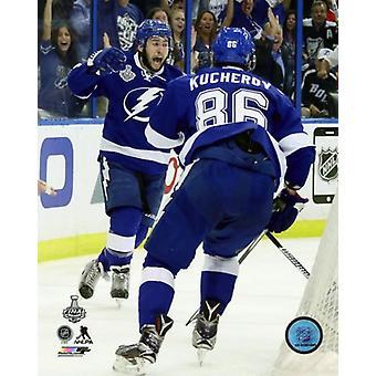 Tyler Johnson & Nikita Kucherov Goal Celebration Game 2 of the 2015 Stanley Cup Finals Photo Print