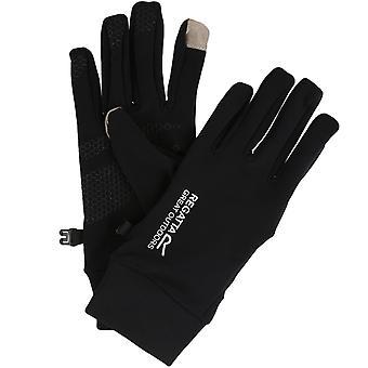 Regatta Adults Mens Touchtip Stretch Softshell Warm Winter Gloves - Negro