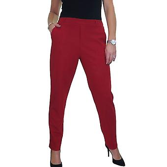 Mujeres's Smart Stretch Scuba Crepe Pantalones cónicos Señoras Confort Fit Pantalones de Oficina de Trabajo Empresarial 10-20