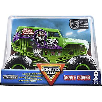 Monster Jam Oficial Grave Digger Monster Truck, Die-Cast Vehicul, 1:24 Scară