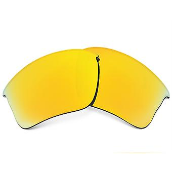 Polarized Replacement Lenses for Oakley Flak Jacket XLJ Frame Anti-Scratch Gold