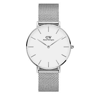 Daniel Wellington DW00100306 Petite Melrose Silver Tone With White Dial Wristwatch