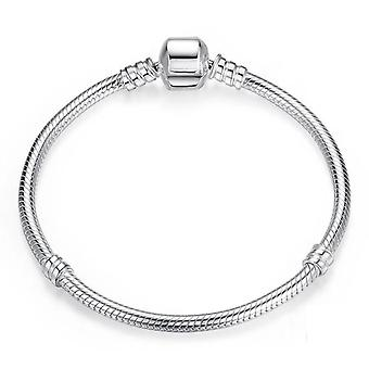Sterling Silver Snake Chain Bangle & Armband
