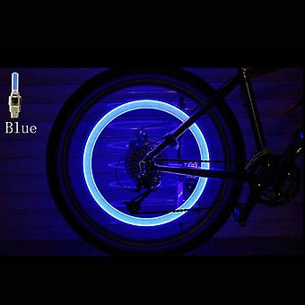 Bicycle Led Light Tire Valve Cap Flash Mountain Road Cycling Wheel Neon Lamp
