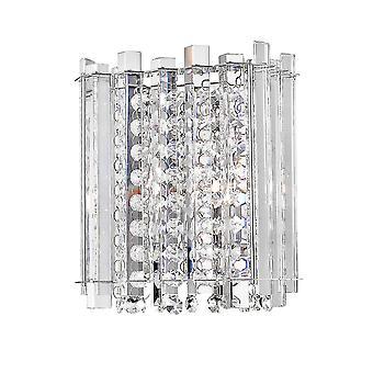 Moderno Lâmpada de Parede Cromo, Luz Clara 1 com Tonalidade Clara, G9