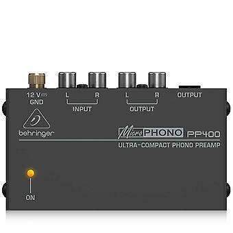 Behringer pp400 microphono εξαιρετικά συμπαγές phono προενισχυτές ανάμικτο χρώμα 1 paquet / s