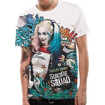 Suicide Squad Unisex Adult Graffiti T-Shirt