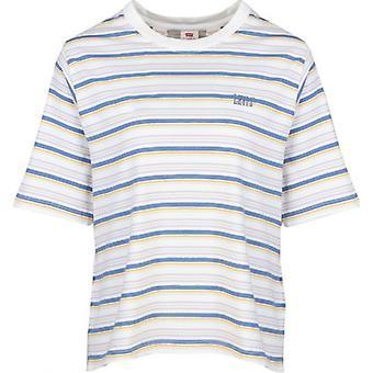 Levi's Red Tab Boxy Striped Logo T-Shirt