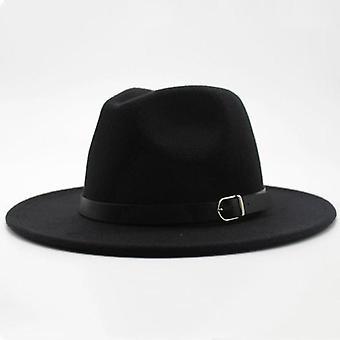 Winter Autumn Imitation Woolen Women Men Ladies Fedoras Top Jazz Hat