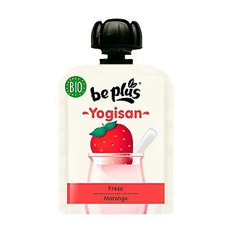 Pouch Yogisan Strawberry and Organic Yogurt 90 g