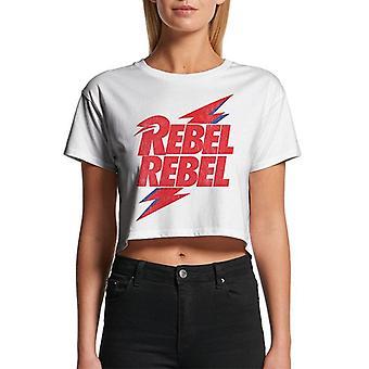 David Bowie Womens/Ladies Rebel Rebel Crop Top