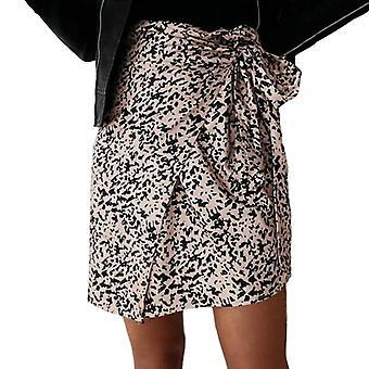 Women High Waist Leopard Print Mini Wrap Skirt, Autumn, Casual Slim Bandage