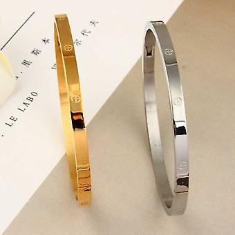 Stilvolle klassische Edelstahl Manschette Armband