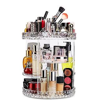 360 Rotating Makeup Organizer,large Capacity Cosmetic Shelf