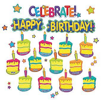 Color My World Happy Birthday Mini Bulletin Board Set