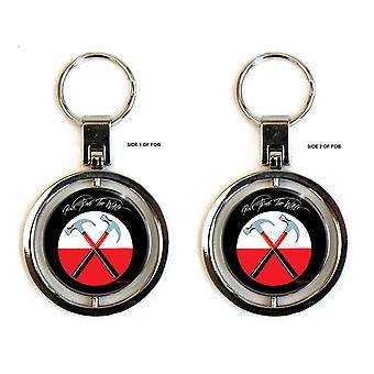 Pink Floyd Keyring Sleutelhanger The Wall Hammers Band Logo Spinner Official Metal