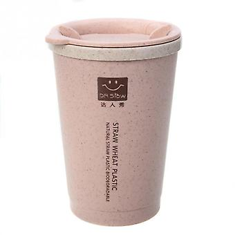 Double-wall Insulation Wheat Fiber Straw Coffee Travel Mug